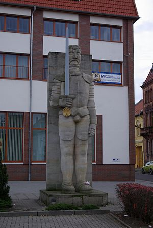 Burg bei Magdeburg - Statue of Roland, reproduction of the one from 1581