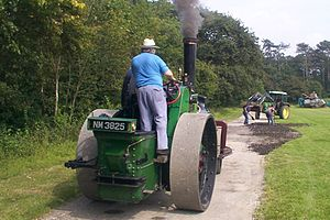 Steamroller - A former Bedfordshire County Council Aveling & Porter roller in 2004