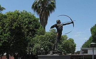 El Camino College Compton Center - Statue of Apollo The Archer on the College Compton Center campus.