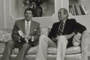 Allen Drury - Ronald Reagan visits with Drury in 1981