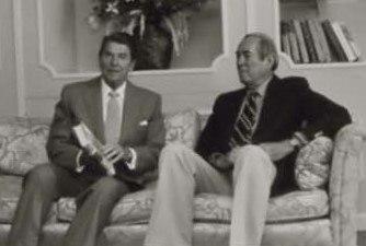 Ronald Reagan and Allen Drury