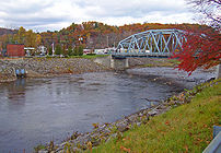 NY 32 and 213 crossing Rondout Creek at Rosend...
