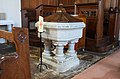 Rosscarbery St Fachtna's Cathedral Baptismal Font 1886 2017 08 30.jpg