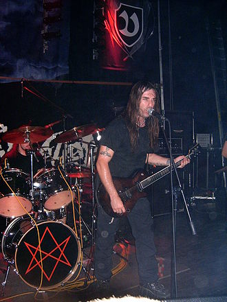 Rock music in Greece - Rotting Christ playing live on tour in Poland.