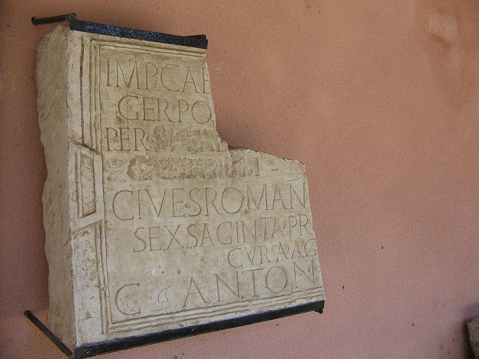 Rousse-Roman-inscription