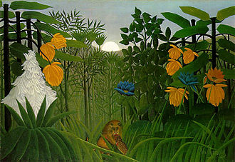 Naïve art - Henri Rousseau's The Repast of the Lion (circa 1907), is an example of naïve art.