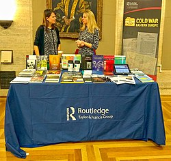 Routledge stand at Senate House History Day 2018.jpg