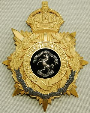 Queen's Own Royal West Kent Regiment - Image: Royal West Kent Regiment helmet plate