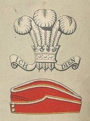Royal Wiltshire Yeomanry - Badge and service cap as worn at the outbreak of World War II – the cap badge is simply the Prince of Wales' feathers