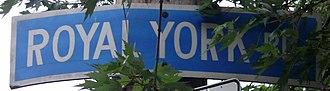 Royal York Road - Image: Royal York Road Sign