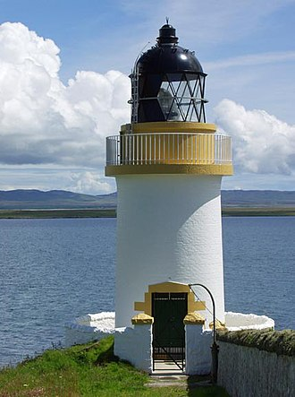 Loch Indaal - The lighthouse just outside Port Charlotte on Islay.