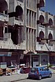Ruined apartment block in Erbil, next to the citadel, in the city center 06.jpg