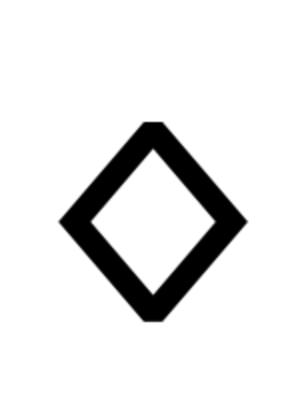 Pforzen buckle - Image: Runic letter ingwaz