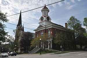 Rutland County, Vermont - Image: Rutland VT Courthouse And Baptist Church