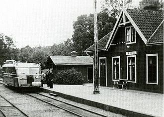 Halmstad Bolmen Railway - Ryaberg station, 1940s