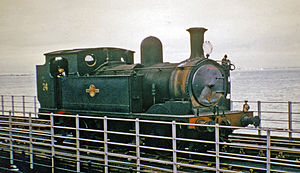 Ryde Pier - Ex-LSW 0-4-4T on Ryde Pier in 1965
