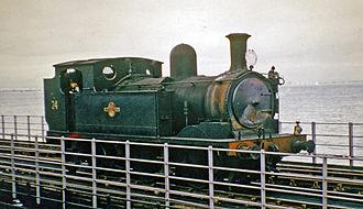 Ryde Pier - Ex-LSW 0-4-4T on Ryde Pier in 1965