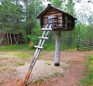 Structure - A traditional Sami food storage structure