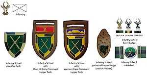 South African Infantry School - SADF era Infantry School insignia