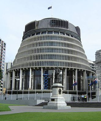 "Politics of New Zealand - The ""Beehive"" is the seat of the New Zealand Government"