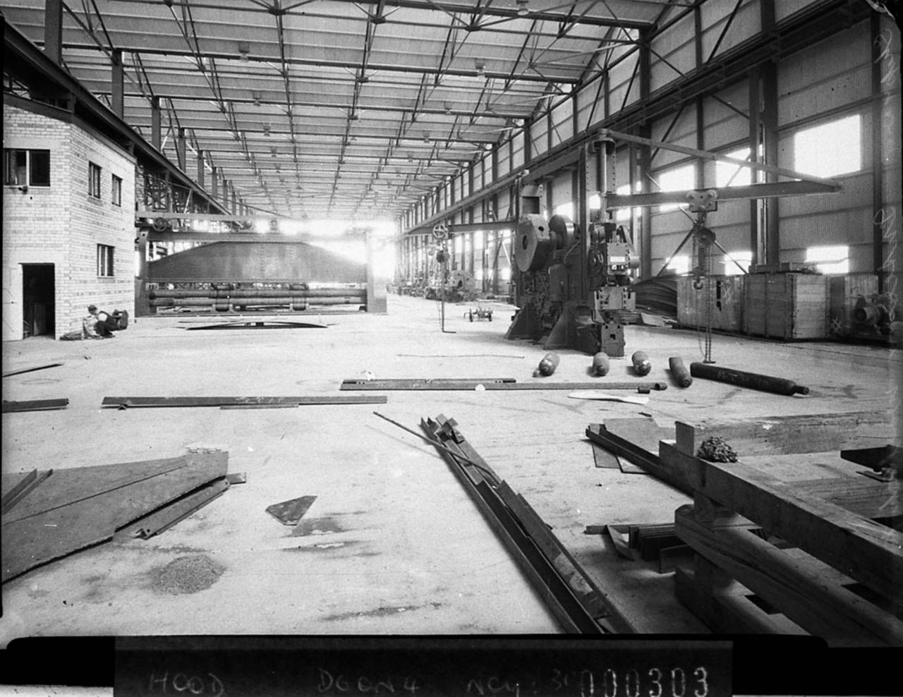 File:SLNSW 12795 Interior of a large factory under construction ...