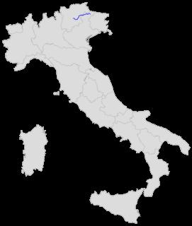 Strada statale 48 delle Dolomiti Road in Italy