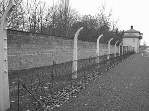 Sachsenhausen concentration camp - Recreation of the security perimeter at Sachsenhausen