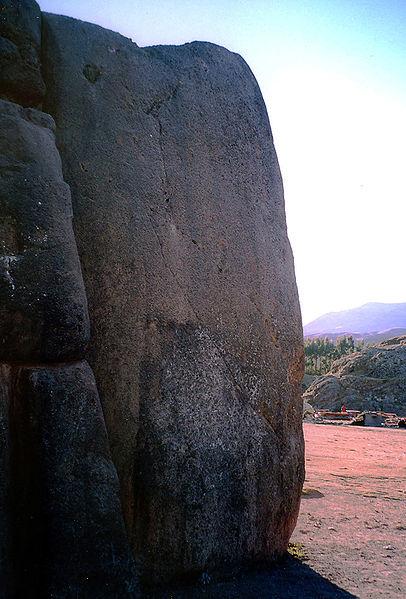 File:Sacsahuaman huge stone.jpg