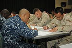 Sailors from Naval Station Guantanamo Bay and Joint Task Force Guantanamo take the Navy-wide first class petty officer advancement examination DVIDS374081.jpg