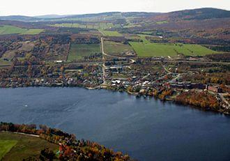 Saint-Ferdinand, Quebec - Aerial view