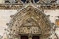 Saint-Lô Église Notre-Dame Tympan du portail de la tour sud 2019 08 19.jpg