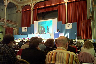 Association of University Teachers - General secretary Sally Hunt addressing the last annual Council of the AUT before its merger with Natfhe to form the UCU.