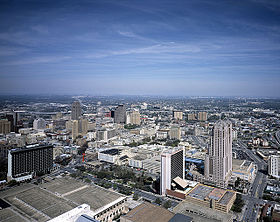 Downtown San Antonio from the Tower of the Americas
