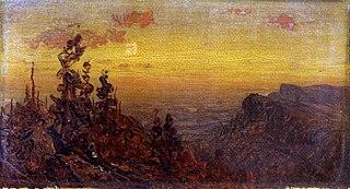 Indians at Campfire--Moon Rising