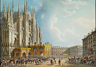 Alessandro Sanquirico - Sanquirico's design for the crowning of Ferdinando I of Austria at the Duomo, Milan