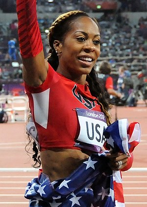 Sanya Richards-Ross - Richards-Ross after winning gold medal of 4x400 relay during the 2012 Olympic Games.
