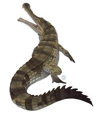 Sarcosuchus - Life restoration of Sarcosuchus imperator