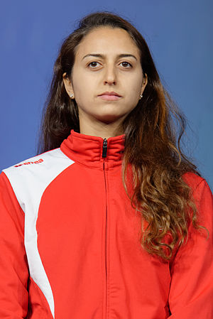 Sarra Besbes - Besbes at the 2015 World Fencing Championships
