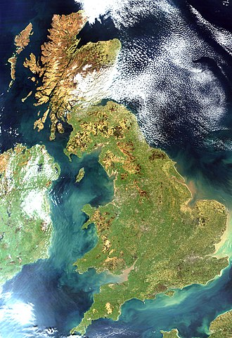 Great Britain - Satellite image, 2002