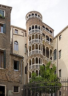 The External Spiral Staircase Of Palazzo Contarini Del Bovolo, Italy
