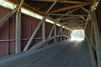 Schenck's Mill Covered Bridge - Image: Schenck's Mill Covered Bridge Inside 3008px