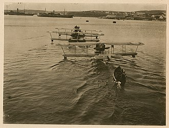 Imperial Russian Air Service - Grigorovich M-9 flying boats in Sevastopol, Crimea