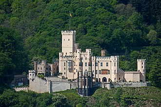Rhine romanticism - Stolzenfels Castle in Koblenz, an example of the Rhine romanticism