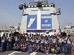 School children visit INS Tarkash as a part of Navy Day 2015 celebrations (2).jpg