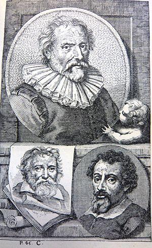 Hendrick Snyers - Image: Schouburg I Plate C Abraham Bloemaert Adam Elsheimer Adam van Oort