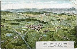 Schussenried und Umgebung aus der Vogelschau von Eugen Felle (um 1910)