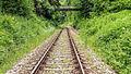 """Schwarzburg Gleis - Bestandteil der Sachgesamtheit """"Eisenbahnstrecke Oberweißbacher Berg- und Schwarzatalbahn"""" 3.jpg"""
