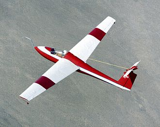 Stall (fluid dynamics) - A Schweizer SGS 1-36 being used for deep stall research by NASA over the Mojave Desert in 1983.