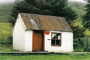 Sconser - Image: Sconser, tin hut post office geograph.org.uk 449074