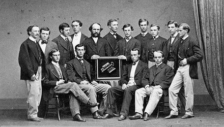 Students of Yale College, 1866 Scroll and Key 1866 delegation Yale College.jpg